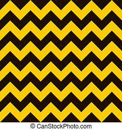 Warning chevron - Yellow and black warning seamless tile...