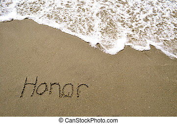 Honor in the sand