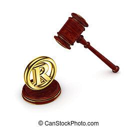 legno, martello, copyright, Simbolo