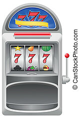 slot machine vector illustration isolated on white...