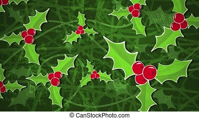 Holly Bush Loop HD - An animated background loop, created in...