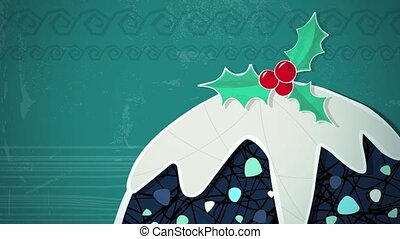Christmas Pudding Loop HD - An animated background loop,...