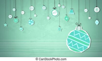 Baubles Swinging Loop HD - An animated background loop,...