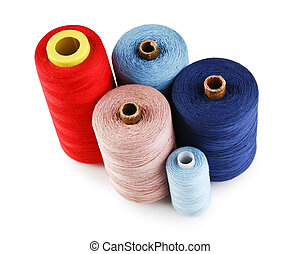 bobbin with thread isolated on a white background
