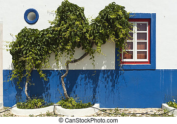 Farmhouse detail - Detail of a traditional farmhouse in the...