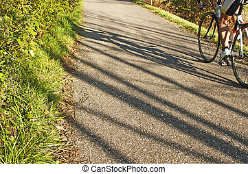 bicycle with shadow