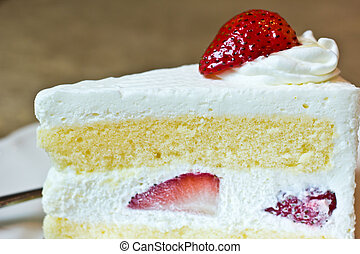 Strawberry shortcake - A piece of sweet strawberry shortcake...
