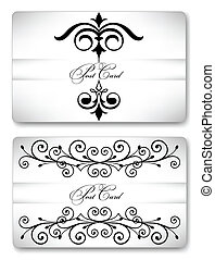 Two gift ornamental cards. Vector