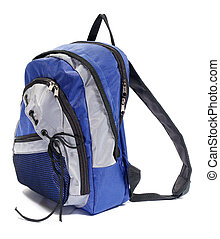 Backpack - Multicolored backpack. Isolated on white.