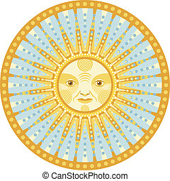 Daylight Mandala - Concentric decorative mandala of the sun