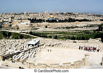 View of Jerusalem from Mount of Olives.