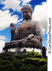 Tian Tan Buddha Big Buddha located at Ngong Ping, Lantau...