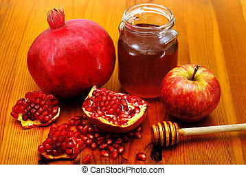 Rosh Hashana Traditional Food - Traditional jewish food,...