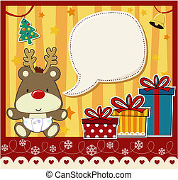 chrstmas baby scrapbooking - vector image for christmas card...