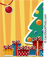 christmas background - vector image background with pine...