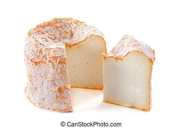langre fermier - french cheese, langres fermier, in front of...