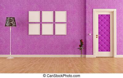 empty classic purple interior
