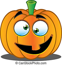 Jack o Lantern Pumpkin Face - 4 - A Vector Illustration of a...