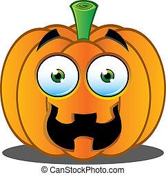 Jack o Lantern Pumpkin Face - 7 - A Vector Illustration of a...