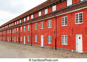 Red prison - Former red prison in the center of Copenhagen...