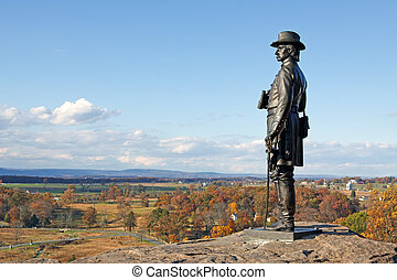 Gettysburg National Military Park - The statue of Gen. G.K....