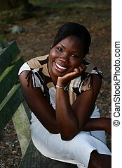 Happy Jamaican Woman - A lovely and happy black Jamaican...