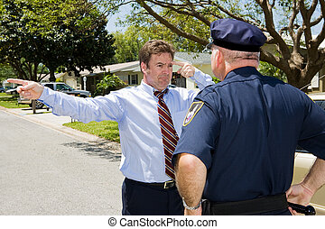 Sobriety Test - Failure - Unhappy motorist forced to take a...