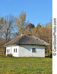 Ancient rural cottage - Ancient traditional ukrainian rural...