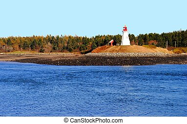 Mulholland Point Lighthouse - Located in New Brunswick,...