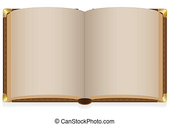 old open book with blank sheets