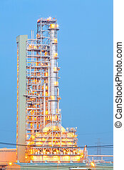 Oil Distillation tower - Distillation tower at Oil Refinery...