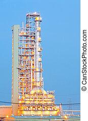 aceite, destilación, torre