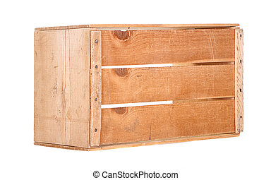 A single wooden crate isolated