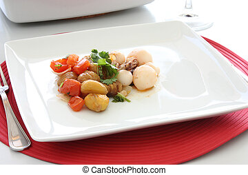 Cuttlefish with chestnuts - Cuttlefish dish with chestnuts...