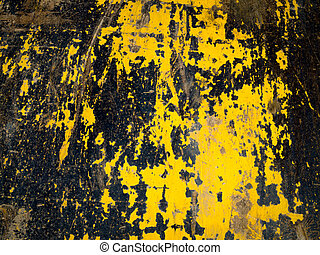Texture of Warning Black and Yellow