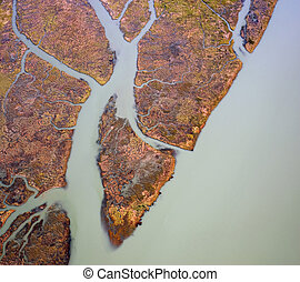 Fraser River sediment and green water