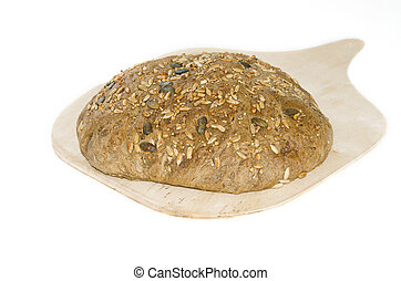 integral bread - an integral bread on white background