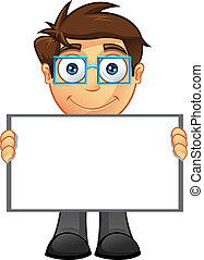 Business Man - Blank Sign - 4