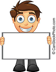 Business Man - Blank Sign - 5
