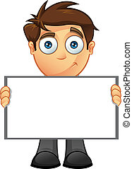 Business Man - Blank Sign - 8