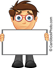 Business Man - Blank Sign - 13