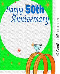 Happy 50th Anniversary - Anniversary Advertisement