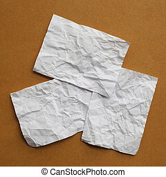 Blank White paper on Brown paper
