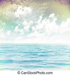 Sea grunge image - grunge image of sea for background