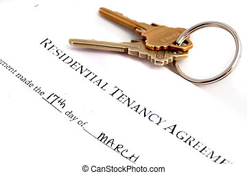 residential tenancy agreement  keys to the side