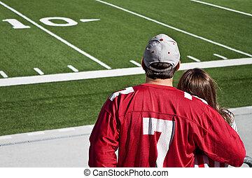 American Football Fans - American football fans at field...