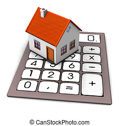 House Calculation - A house on the big pocket calculator...