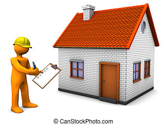 Building Regulations - Orange cartoon character with yellow...