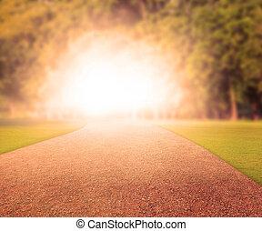 walking way thru the light