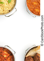 Curry background - Curry dishes with space for text or menu...